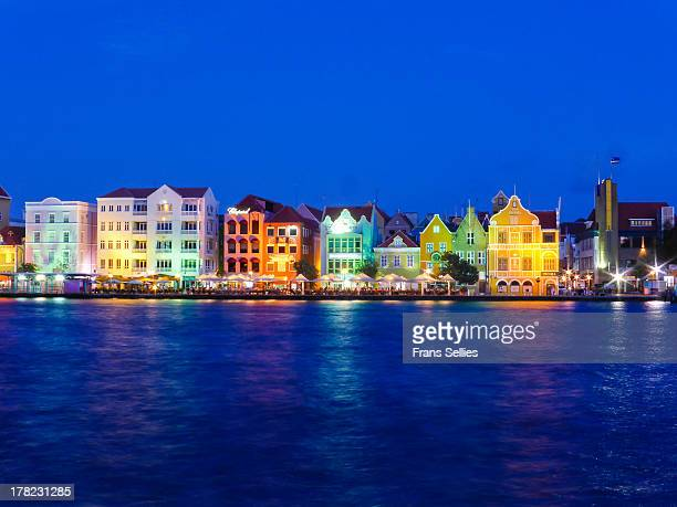 The harbor front of Willemstad, Curaçao