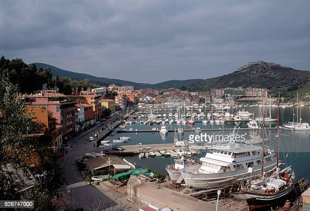 The harbor in the town of Porto Ercole in Tuscany