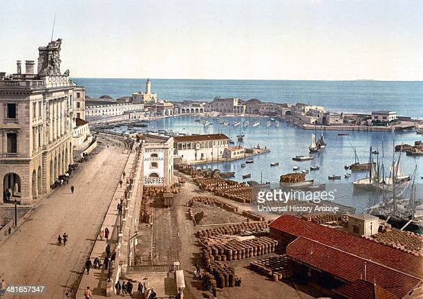 The harbour and admiralty, Algiers, Algeria 1899.