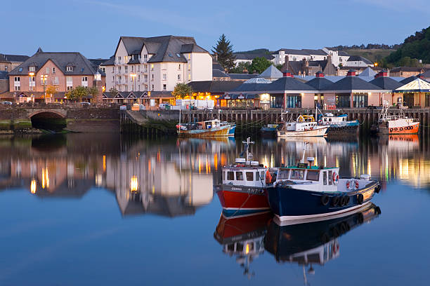 The harbour at dusk, Oban, Argyll & Bute, Scotland
