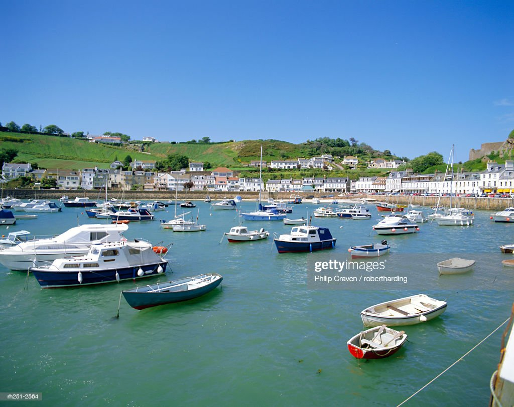 The harbour at Gorey, Jersey, Channel Islands, UK : Foto de stock