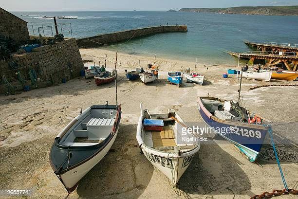 The harbour at Sennen Cove, nr Land's End, Cornwall, Great Britain.