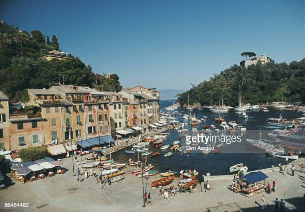 The harbour in the Ligurian town of Portofino August 1977