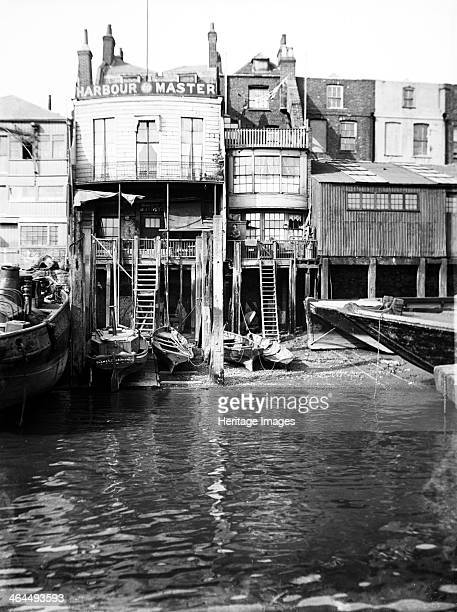 The Harbour Master's office at 74 Narrow Street, Limehouse, London, c1905.