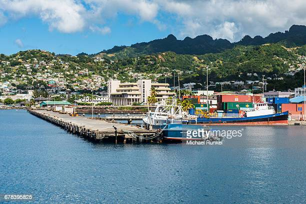 The harbour of Kingstown, St. Vincent, St. Vincent and the Grenadines, Windward Islands, West Indies, Caribbean, Central America