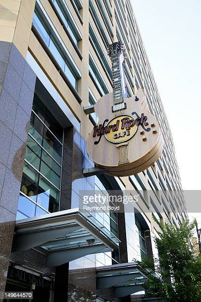 The Hard Rock Cafe is located in the Compuware World Headquarters Building in Detroit Michigan on JULY 21 2012