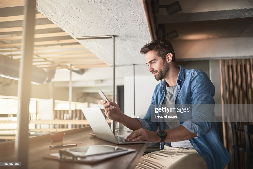 The hard work that goes into running a cafe : Stock Photo