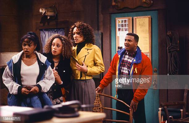 AIR THE The Harder They Fall Episode 21 Pictured Tatyana Ali as Ashley Banks Cree Summer as Lisa Adams Karyn Parsons as Hilary Banks Alfonso Ribeiro...
