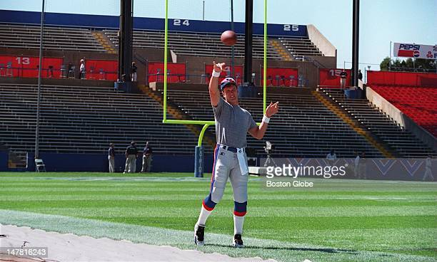 The hardest working 42 million dollar man in football Drew Bledsoe was out warming up in an empty Foxboro Stadium hours before the kickoff of the '95...