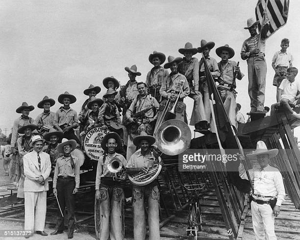 The HardinSimmons University Cowboy Band of Abilene Texas in Washington for the National Rural Letter Carriers Convention made Sammy Baugh Washington...