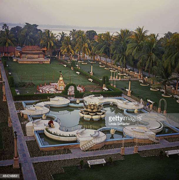 The Hare Krishna headquarters in Mayapur about three hours from Kolkata This gives a wide view of the breathtaking gardens of the expansive ashram...