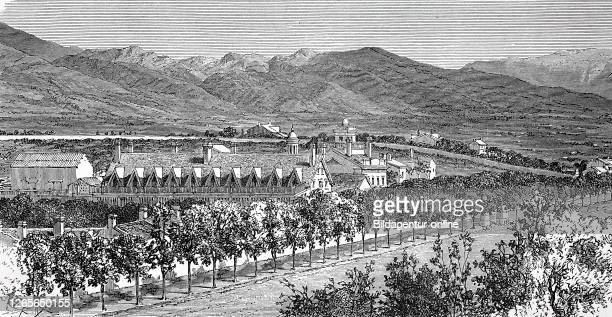 The harem and the residence of Brigham Young in the valley of the Grand Salt Lake Brigham Young 1801 1877 American religious leader politician and...