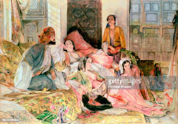 The Harem', c1850. John Frederick Lewis was an English painter who specialised in Mediterranean and Oriental scenes. Artist John Frederick Lewis.