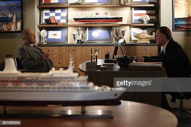 THE BLACKLIST 'The Harem' Episode 411 Pictured James Spader as Raymond 'Red' Reddington Ian Blackman as Carter Wilson