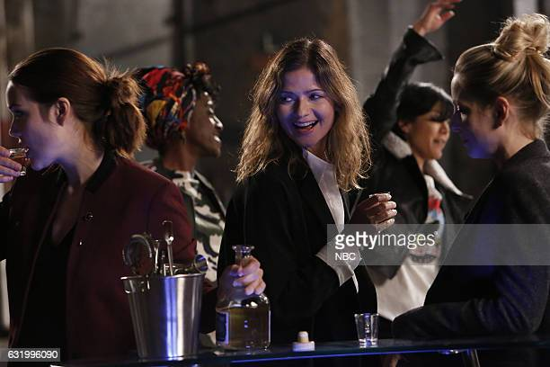 THE BLACKLIST 'The Harem' Episode 411 Pictured Megan Boone as Elizabeth Keen Ito Aghayere as Jessica Jill Hennessy as Margot Hettienne Parj as Sasha...