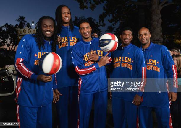 The Harlem Globetrotters attend the 125th Tournament of Roses Parade Presented by Honda on January 1 2014 in Pasadena California