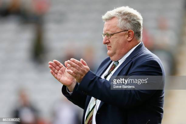 The Harlequins Director of Rugby John Kingston looks on prior to the Aviva Premiership match between Harlequins and Leicester Tigers at Twickenham...