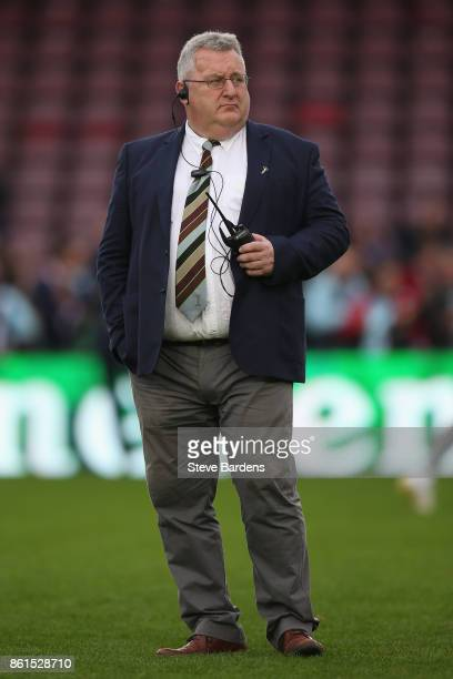 The Harlequins Director of Rugby John Kingston looks on prior to the European Rugby Champions Cup match between Harlequins and La Rochelle at...
