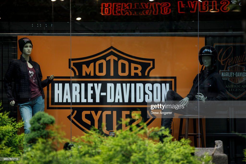 Harley Davidson To Move Some Manufacturing Outside US To Avoid EU Tariffs : News Photo