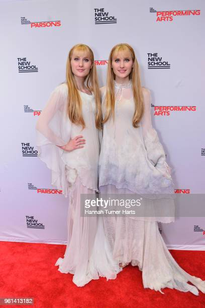 The Harp twins attend the 70th Annual Parsons Benefit at Pier Sixty at Chelsea Piers on May 21 2018 in New York City