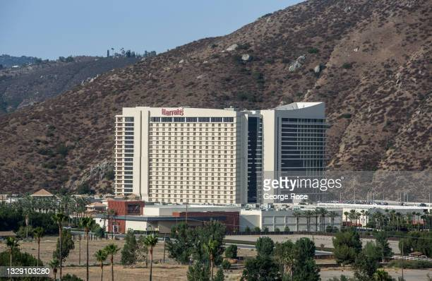 The Harrah's Southern California Resort & Casino is viewed on July 13, 2021 near Valley Center , California. The resort and casino is owned by the...