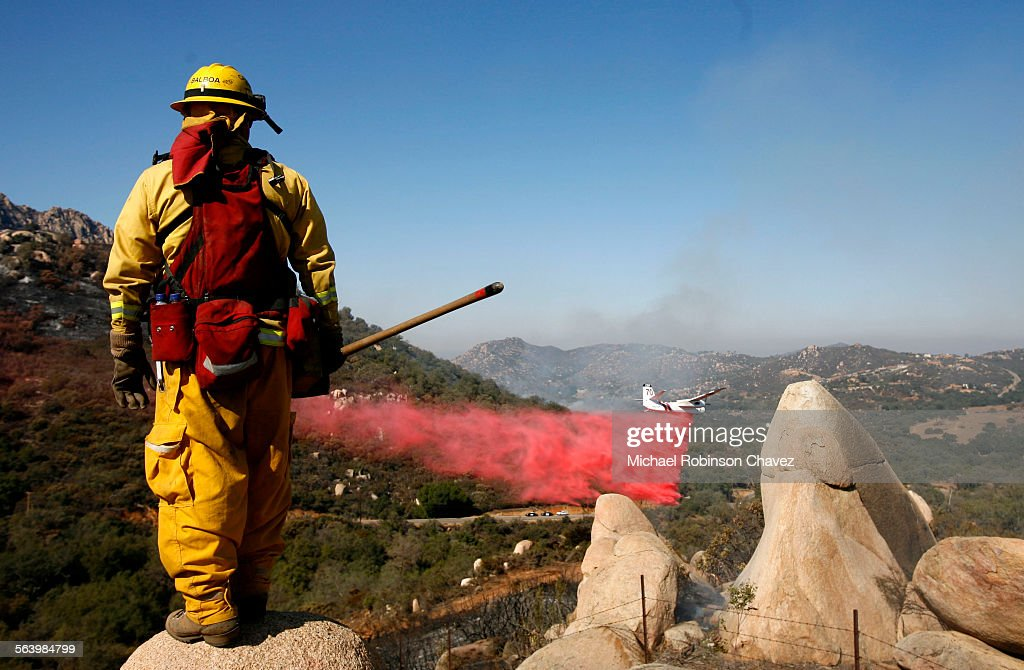 The Harris Fire continues to burn in southern San Diego