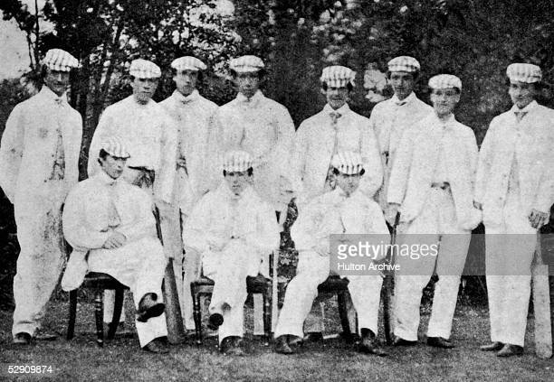 The Harrow XI from the 1862 cricket match against Eton From left to right R Dundas W FullerMaitland W O Hewlett Isaac Donnithorne Walker R C...
