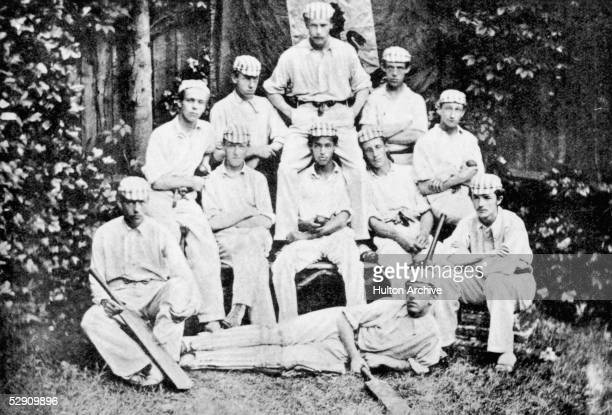 The Harrow XI from the 1877 cricket match against Eton Harry Farquhar De Paravicini Perceval Jeffery Thornton Henery Lord E W Hamilton William Harry...