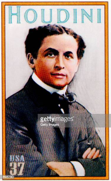 The Harry Houdini 37cent postage was unveiled at the Society of American Magicians Centennial Convention July 3 2002 in New York City The stamp was...