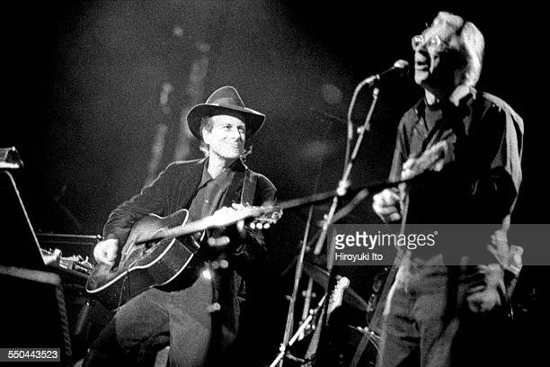 The Harry Smith Project produced by Hal Willner at St Ann's Church in Brooklyn on November 11 1999This imageGary Lucas left and Peter Stampfel