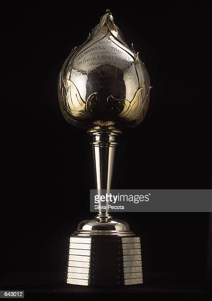 The Hart Memorial Trophy is presented yearly to the Most Valuable Player in the National Hockey League as pictured on January 01 2001