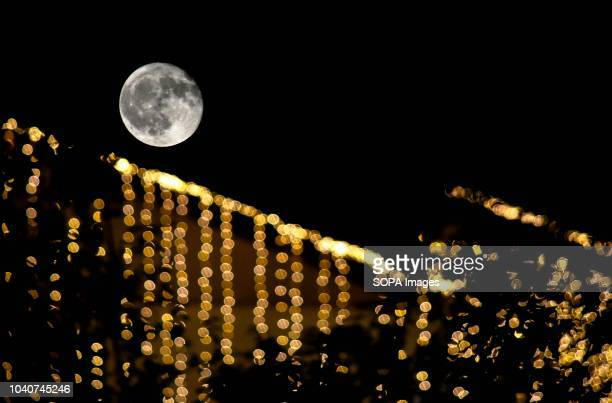 The harvest moon rises in Srinagar Indian administered Kashmir The Harvest Moon occurs every September and aligns with the Autumnal Equinox This is...