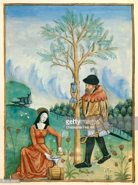 the harvest of balm Miniature National Library of France in Paris France