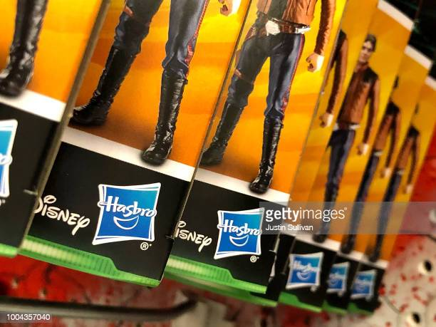 The Hasbro logo is displayed on toys at a Target store on July 23 2018 in San Rafael California Hasbro Inc reported better than expected...