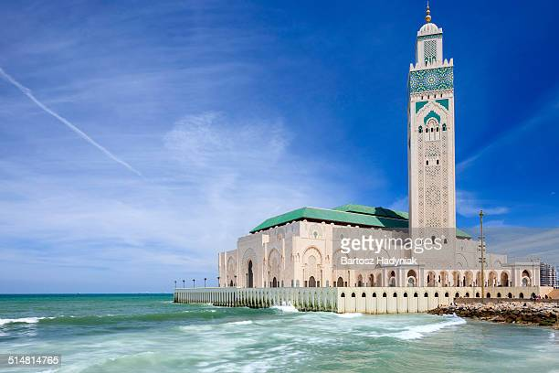 the hassan ii mosque in casablanca - mosque hassan ii stock photos and pictures