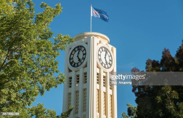 The Hastings clock tower in the downtown of Hastings city, New Zealand.
