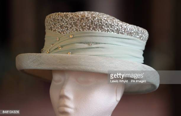 The hat worn by Queen at the Service at St Paul's Cathedral designed and created by Angela Kelly MVO The crown of the hat is covered in the same...