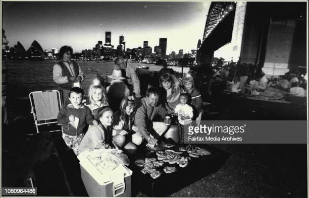 The Hatswell family up from Bathurst for Australia Day cook up a storm as they intend to spend the night overlooking the harbour at Milsons Point...