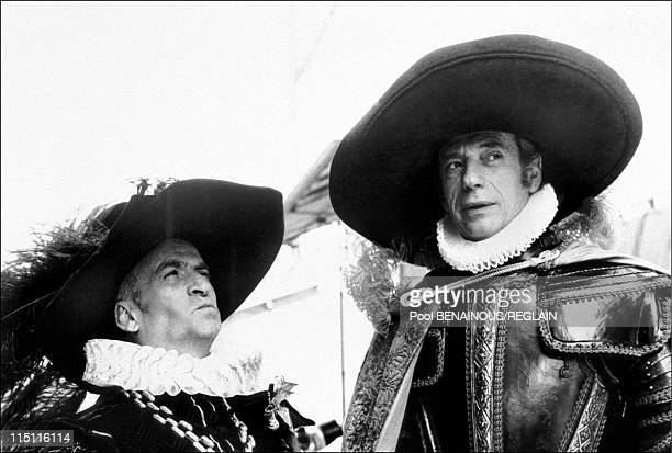 The hatters in Paris France on March 13 1995 Louis de Funes and Yves Montand document Jean Barthet