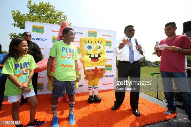 The Haunted Hathaways actors Breanna and Curtis Detroit Deputy Mayor Isaiah McKinnon and JBoogie attend Nickelodeon's Road to Worldwide Day of Play...