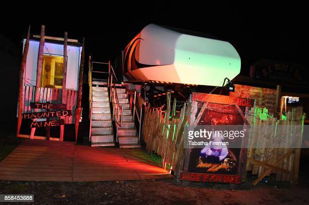 The Haunted Mine ride at the 'Shocktober' festival press night at Tulleys Farm on October 6 2017 in Crawley West Sussex