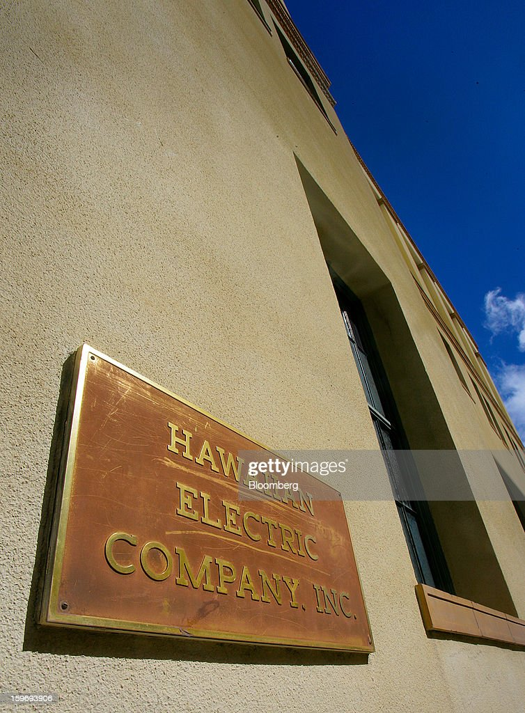 The Hawaiian Electric Co. Inc. building stands in Honolulu, Hawaii, U.S., on Wednesday, Jan. 9, 2013. Honolulu, the southernmost major U.S. city, is a major financial center of the islands of the Pacific Ocean. Photographer: Tim Rue/Bloomberg via Getty Images