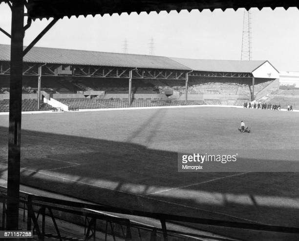 The Hawthorns, the home of West Bromwich Albion F.C. West Midlands, circa 1950.