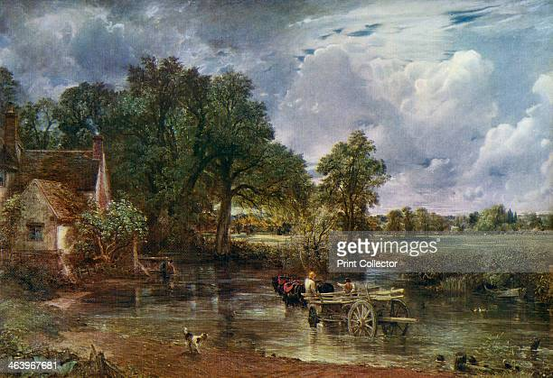 'The Hay Wain' . A colour print from Famous Paintings, with an introduction by Gilbert Chesterton, Cassell and Company, .