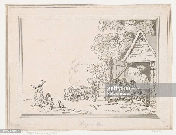 The Haymakers, 1787. Artist Thomas Rowlandson.