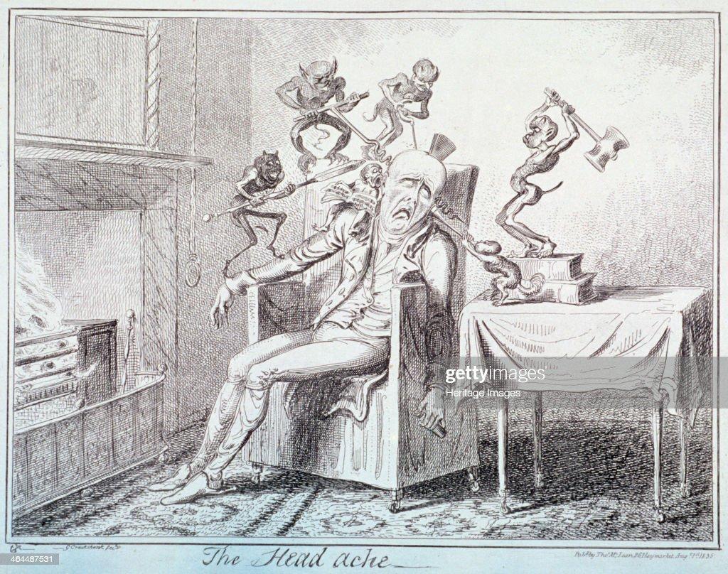 'The head ache', 1835. Artist: George Cruikshank : News Photo