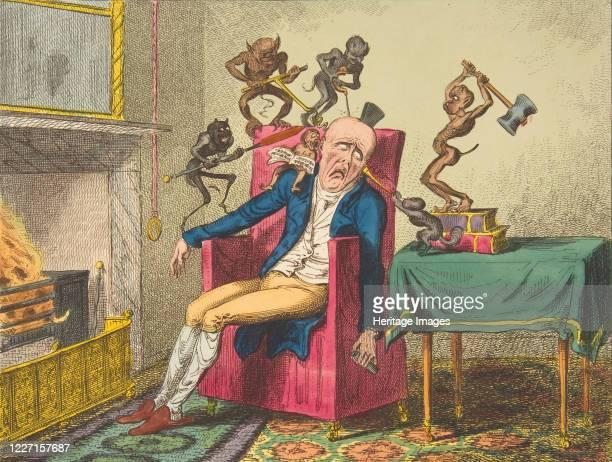 The Head Ache February 12 1819 After Captain Frederick MarryatArtist George Cruikshank