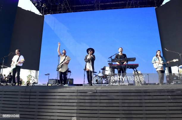 The Head and the Heart perform on the Coachella Stage during day 2 of the Coachella Valley Music And Arts Festival at the Empire Polo Club on April...