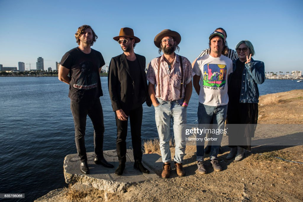 The Head and the Heart pose backstage at Alt 98.7 Summer Camp at Queen Mary Events Park on August 19, 2017 in Long Beach, California.