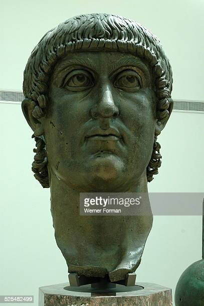 The head from a gigantic statue of Constantine the Great Italy 4th Century AD